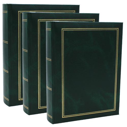 Lot de 3 albums photo Marbre vert 300 pochettes 10x15