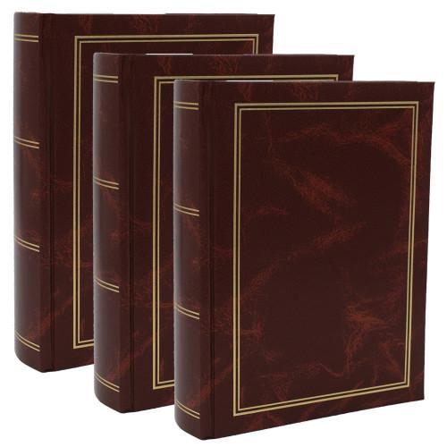 Lot de 3 albums photo Marbre marron 300 pochettes 10x15