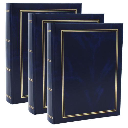 Lot de 3 albums photo Marbre bleu 300 pochettes 10x15