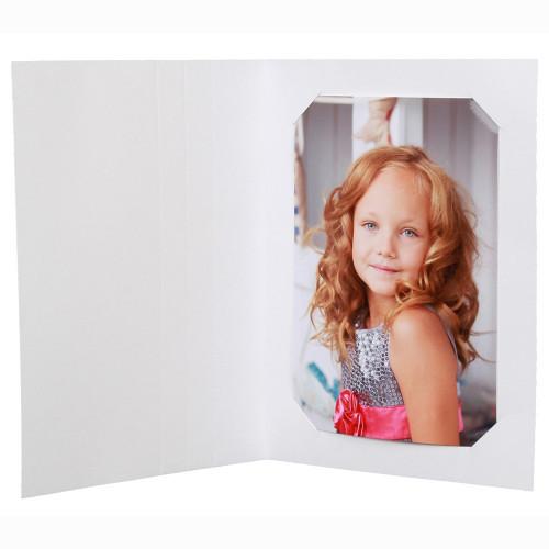 cartonnage photo de noel - sapin blanc - avec photo