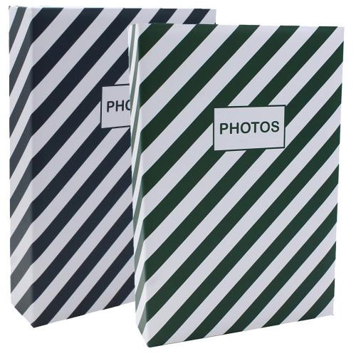Lot de 2 albums photo Mstream Vert et Bleu 402 pochettes 10X15