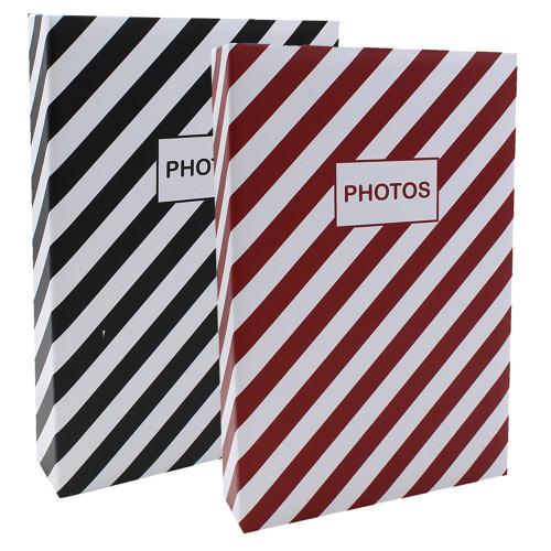 Lot 2 albums photo Mstream 402 pochettes 10X15 Rouge et Noir