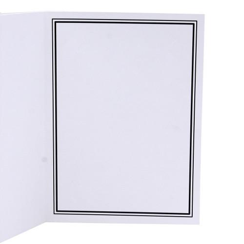 Cartonnage photo blanc - Liseré duo Noir