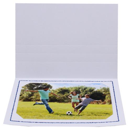 Cartonnage photo blanc - Thionville bleu foncé