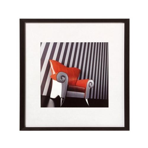 Cadre photo carré en aluminium Chair noir - Walther 20x20