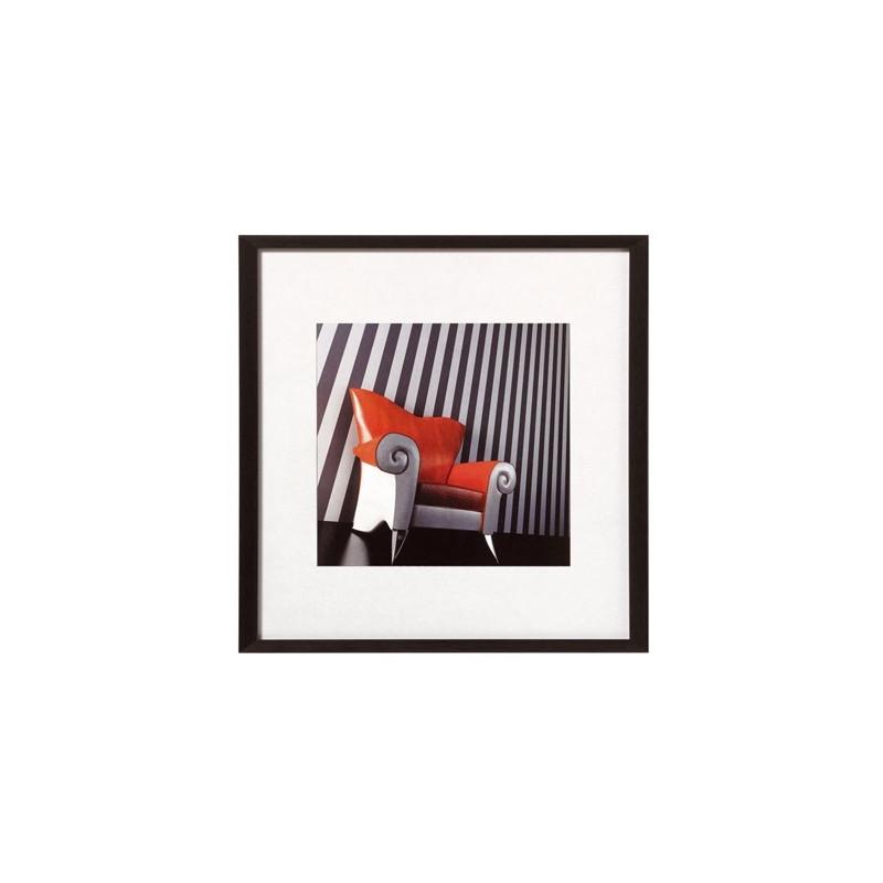 Cadre carré Chair noir en aluminium