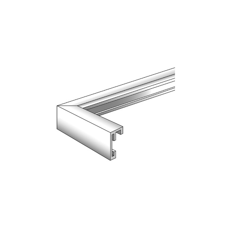 Cadre photo en aluminium brossé Chair noir - Walther 10x15 13x18 15x20 20x30 30x40 30x45