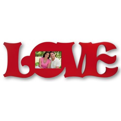 Cadre pour photo 9x14 modèle LOVE rouge
