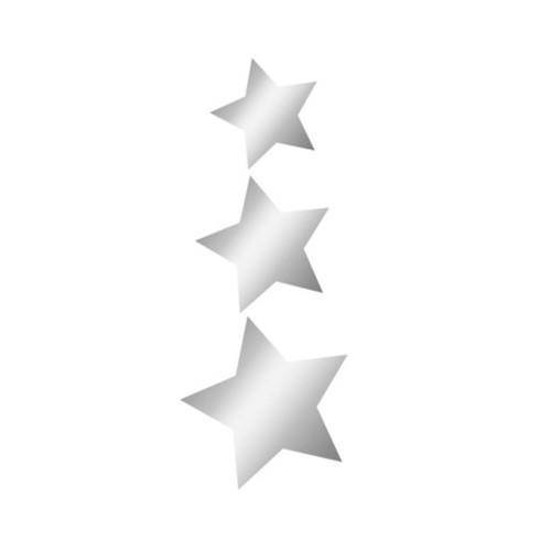 Miroir Adhésif Artis Deco - Lot de 3 étoiles découpées